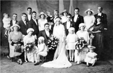 Wedding of Paul S. Comino and Rodanthi (Rose) Galanis, 1924