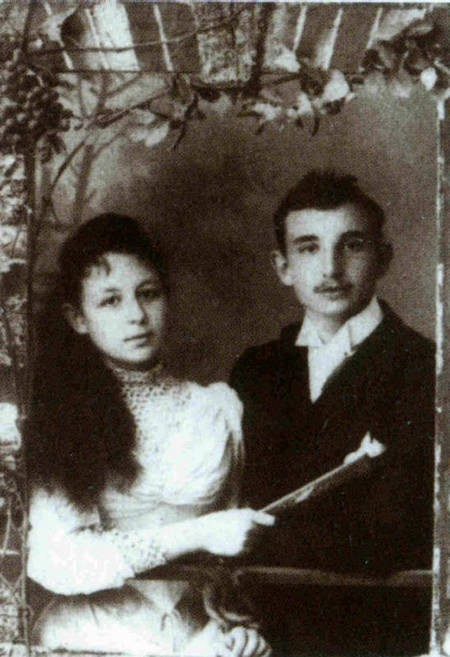 Antonis Benakis & his sister Penelope in Alexandria in 1891.