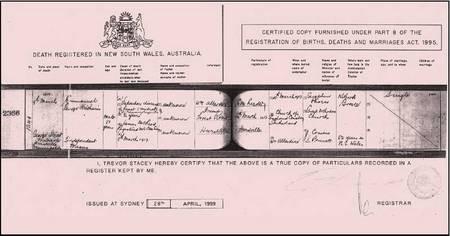 Emmanuel Kritharis - Kritharis Emmanuel, Death Certificate