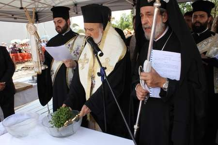 His Grace Bishop Seraphim, administering Holy Communion - 005 Saint Harry Five