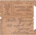 Canberra Café Card