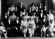 Double Wedding - Harry Londy & Theodora Marendis and Mick Levonis & Kaliope Leondarakis, 1926