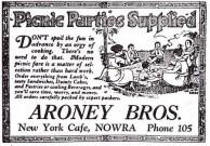 Aroney Brothers, Nowra. Advertisment. 1925.
