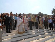 The Metropoliti addressing the assembled multitude