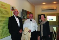 The Governor of NSW her Excellency Marie Bashir is shown the Roxy Greek Museum by John Wearne and Peter Prineas