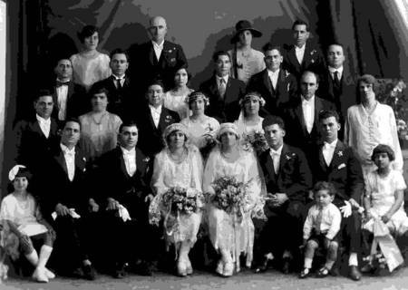 Double Wedding - Harry Londy & Theodora Marendis and Mick Levonis & Kaliope Leondarakis, 1926