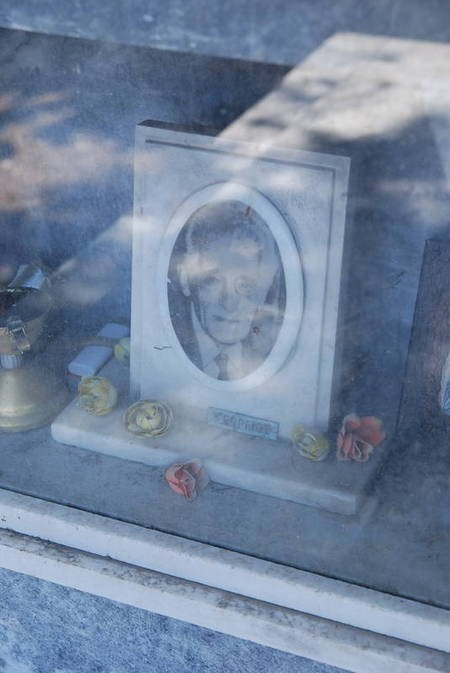 PORTRAIT.( NAME NOT LEGIBLE)----CEMETERY PANAGIA DESPINA