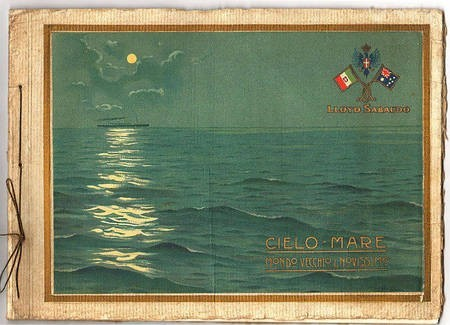 Advertisement, including badge of a ship of the Lloyd's line