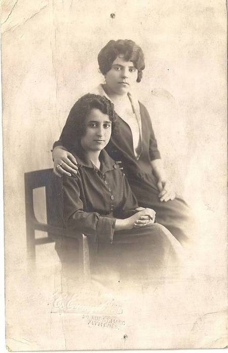 Peter E. Kassimatis' sisters Rosa and Stamatina 1924