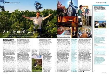 Paul Mercurio's latest role as 'New England North West' ambassador takes him from art deco Greek cafés to wineries, waterfalls and wildlife