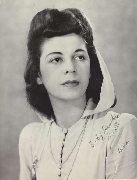 Diana (Diamantoula) Rudkin (nee Lianos) c. 1950