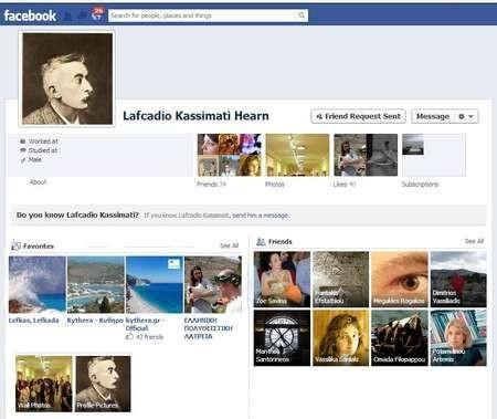 New Lafacdio Hearn Facebook page