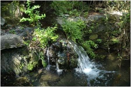 A waterfall near the Portokalia spring