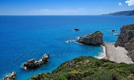 The view of Kaladi in Kythera, Greece