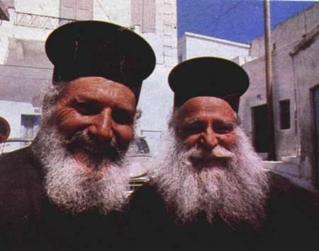 Religion - Two Greek Orthodox priests  1976