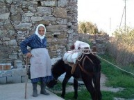 Olive picker at Perlegianika