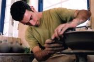 Panayiotis Roussos hand making pottery