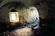 Interior of one of the abandonned watermills of Mylopotamos