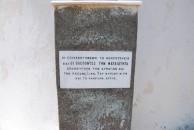 Inscription at Potamos cemetery