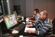 Vasilis Kailas, at work in the studio, creating animated films