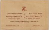 Wedding Invitation - Emmanuel Kavacos and Pauline Pradelle, Paris 1915