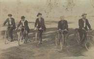 Bikeriders mounted on their bikes