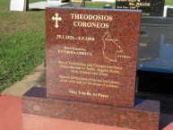Gravestone of Theo Corones (Theothosi Koroneos), in Bargara, Queensland