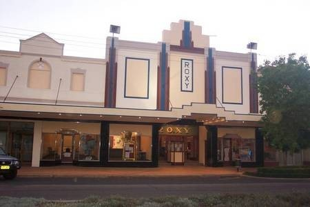 Roxy Theatre, Bingara, NSW, Australia - the frontage.
