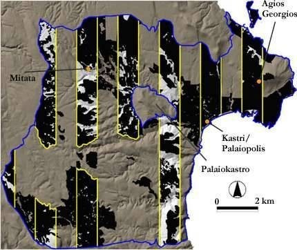 Archeaological survey area - Kythera Island Project.