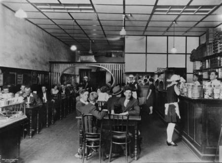 Interior of Busy Bee Cafe at Kingaroy, Queensland, 2nd January, 1929
