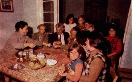 Coffee and drinks with Mr and Mrs Spyros Giannotis. 1976.