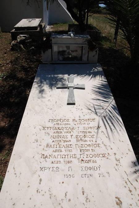 Sofios Family Gravestone, Agios Theothoros