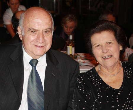 Descendants of Peter Feros. George Feros and wife Chris Feros.