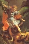 St Micheal as the Archangel, as depicted on the Order of St Micheal and St George.