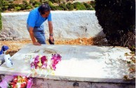 Sept 2008. (5) Toki Koizumi, the grandson of Lafcadio Hearn visits Kythera to pay homage to his grandparents.