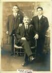Aristidis Nikolas Megalokonomos with 2 unknown men - Please help identify!
