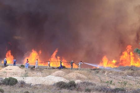FIRES ON KYTHERA AUGUST 2010 - kythera 2010 1673