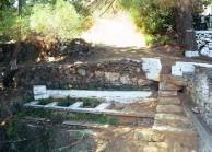 The plystra (washing basins) in Amir Ali, Karavas
