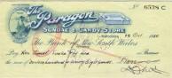 Cheque, Paragon Cafe, Katoomba, 1958.