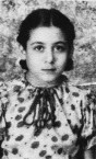Maria in her cherry dress, aged 10.