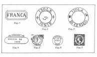 Stamps and postmarks of Kythera. Figures 1-7.