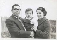 James Coroneos, wife Toula, and young son John.