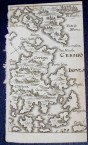 Map of Kythera from ca. 1650
