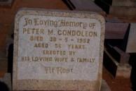 Peter M Condoleon. Headstone. Old Dubbo Cemetery.