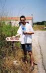 Agia Marina sign