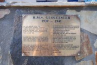 Plaque on Kapsali house Re- Gloucester Sinking