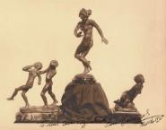 Three sculptures by Emmanuel Cavacos