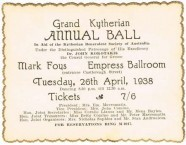 Ticket for the 1938 Kytherian Ball
