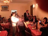 During the celebrations the relatives and guests also celebrated Paul Calokerinos's 80th birthday