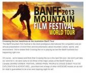 Award winning film of the Antarctic crossing